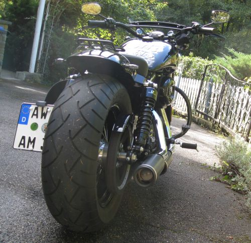 Picture 7: Harley Davidson, view from behind