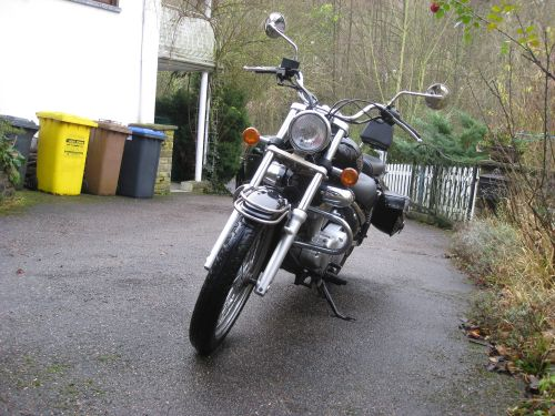 "Picture 8: My motor-bike ""SUZUKI Intruder 125"" / viewed from the front"