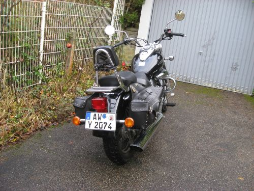 "Picture 10: My motor-bike ""SUZUKI Intruder 125"" / viewed from behind"