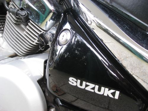 "Picture 25: My motor-bike ""SUZUKI Intruder 125"" / starter lock"