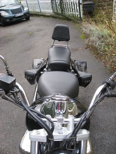 "Picture 31: My motor-bike ""SUZUKI Intruder 125"" / viewed from the front - headlights and indicators"
