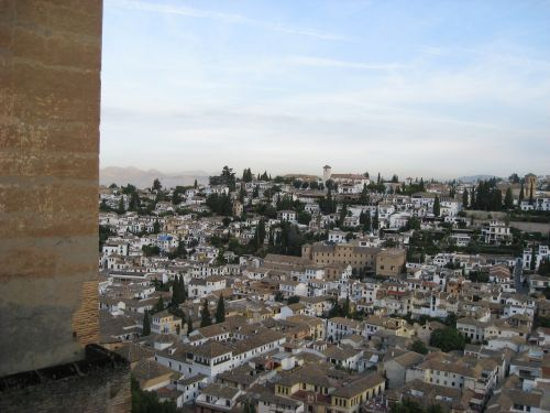 Picture 3: Alhambra / View across the city of Granada