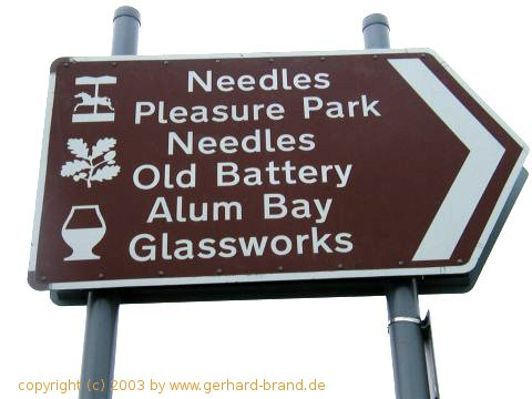 Picture 2: Isle of Wight, Alum Bay, information sign