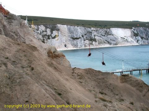 Foto 5: Isle of Wight, Alum Bay, telesilla