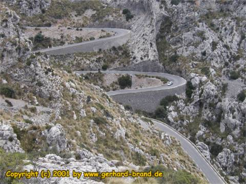 Picture 2: Sa Calobra, the road in form of a snake