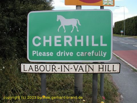 Picture: Entrance to the village Cherhill