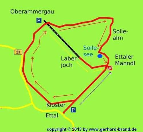Picture 12: Ettaler Manndl, the map