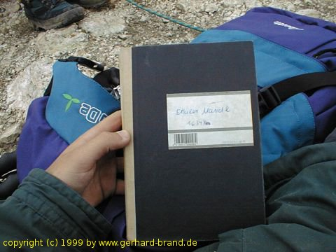 Picture 9: Ettaler Manndl, the log book