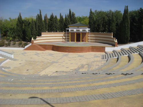 Picture 2c: Open air theatre in the park of Marinaleda