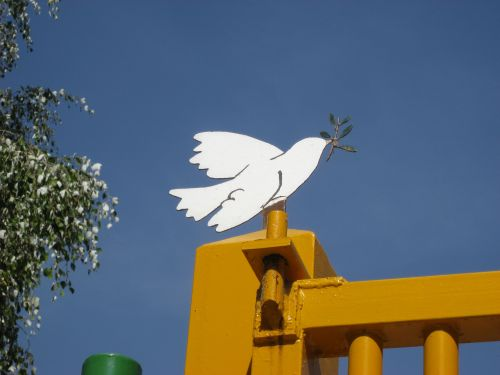 Picture 8: A dove of peace in Marinaleda