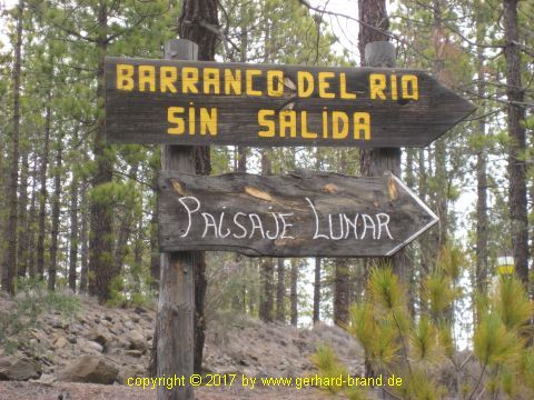 Picture 5: Sign to Moonscape (Paisaje Lunar)