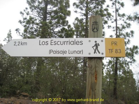 Picture 7: Sign to Moonscape (Paisaje Lunar)