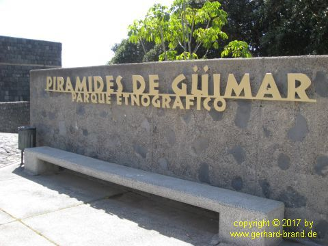 Picture 1:  Entrance to the Park - The Pyramids of Güímar