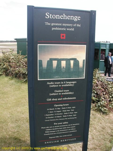 Picture 3: Stonehenge, English Heritage, Opening hours