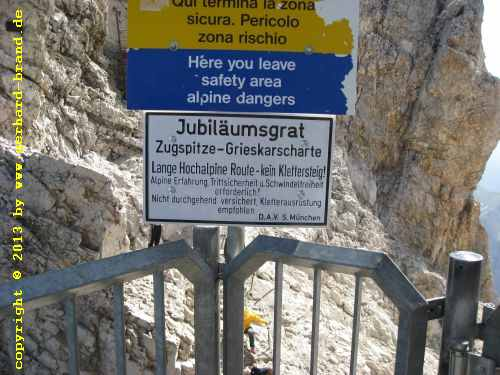 Picture 25: The way to the Zugspitze - The last stage / Jubiläumsgrat